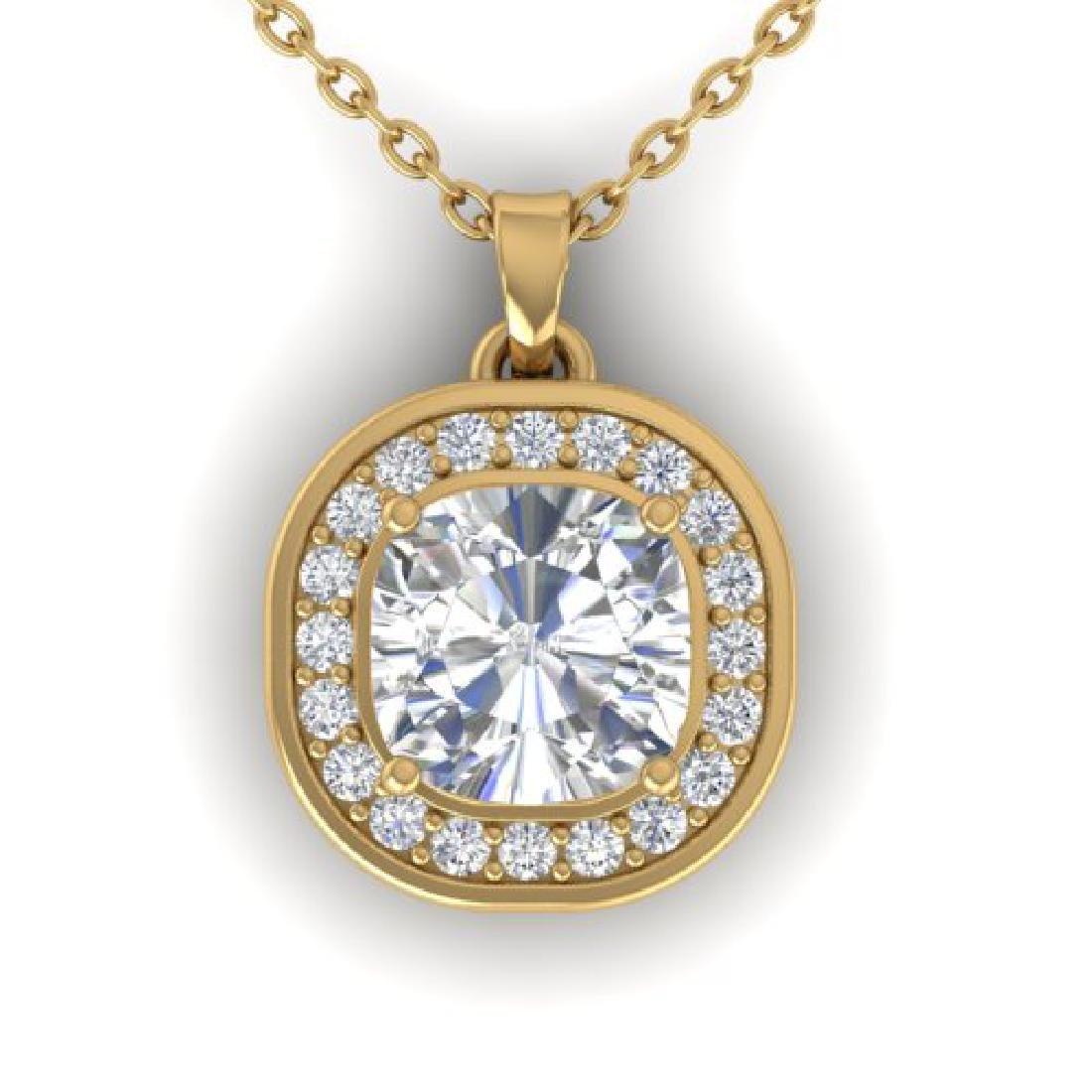 1.25 CTW Cushion Cut Certified VS/SI Diamond Art Deco