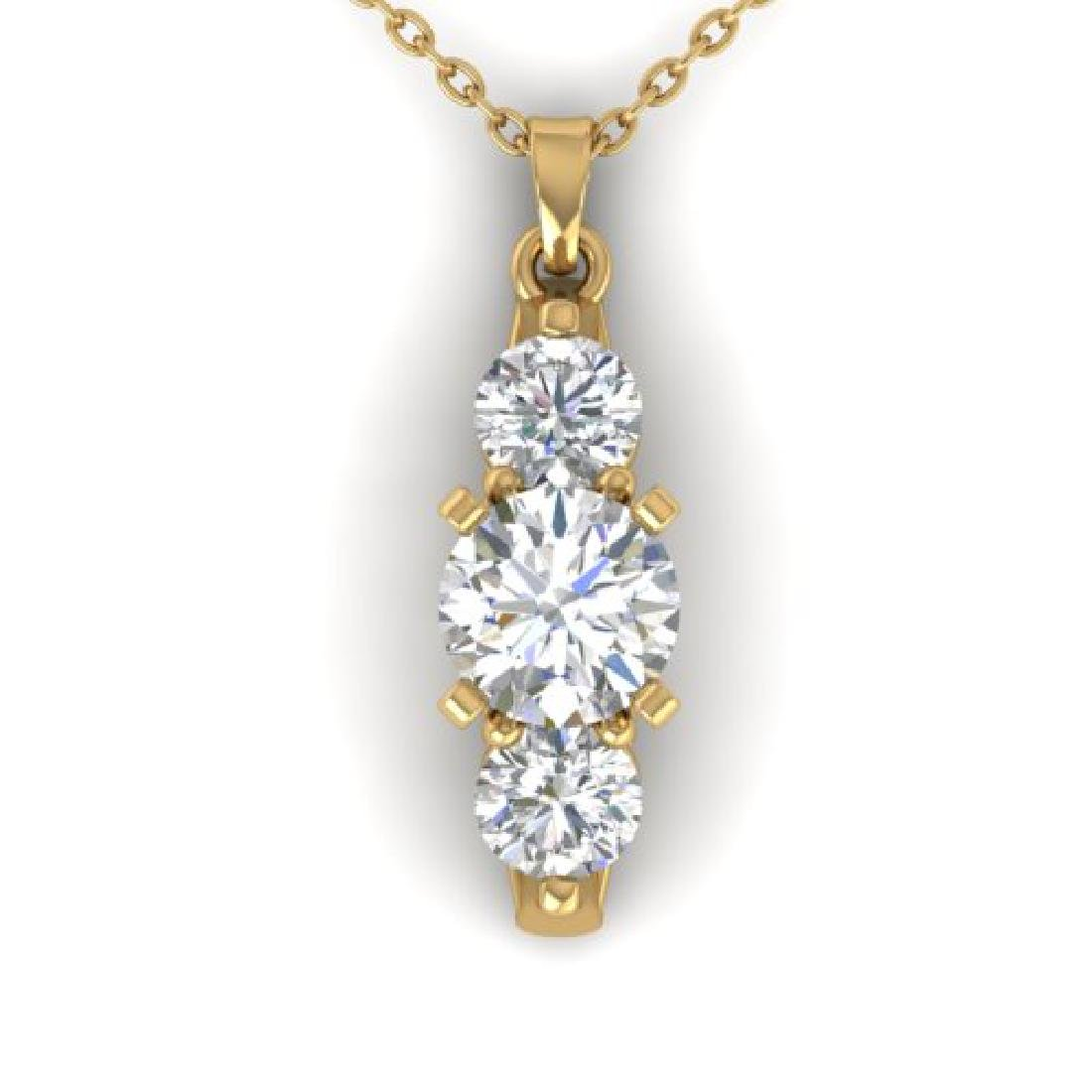 1.25 CTW Certified VS/SI Diamond Art Deco 3 Stone