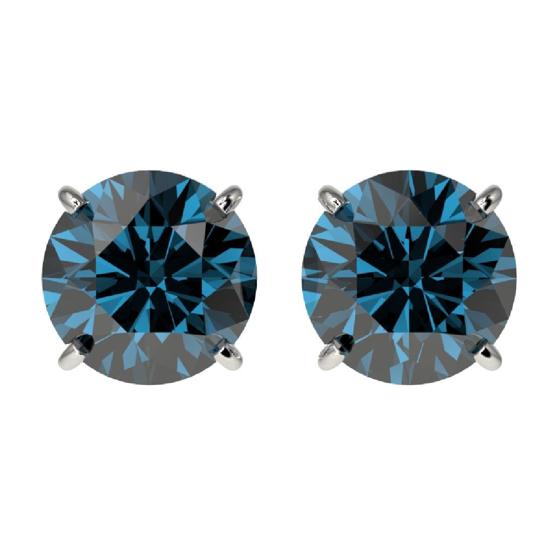 2.14 CTW Certified Intense Blue SI Diamond Solitaire