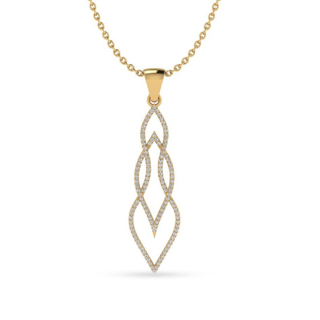 0.80 CTW Micro Pave VS/SI Diamond Necklace 14K Yellow