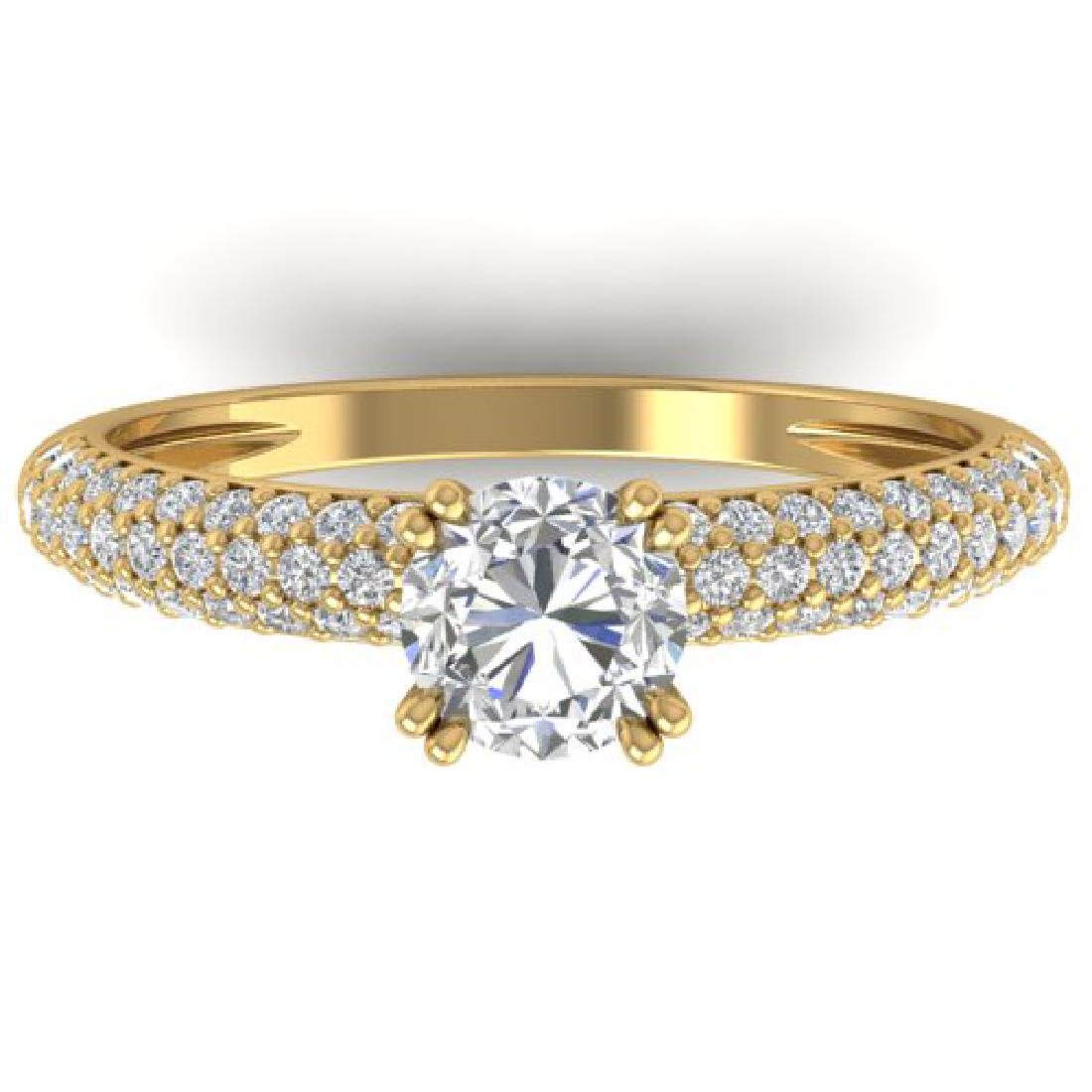 1.4 CTW Certified VS/SI Diamond Solitaire Art Deco
