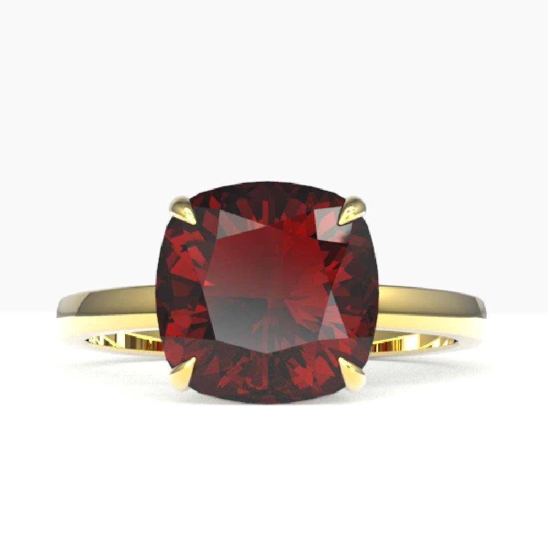 6 CTW Cushion Cut Garnet Inspired Solitaire Engagement