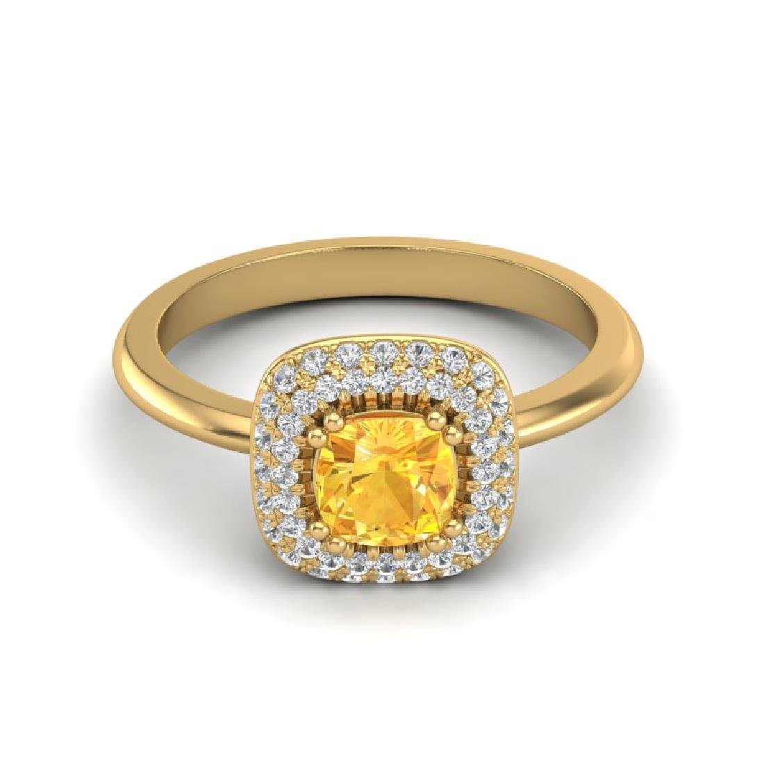 1.16 CTW Citrine & Micro VS/SI Diamond Ring Solitaire