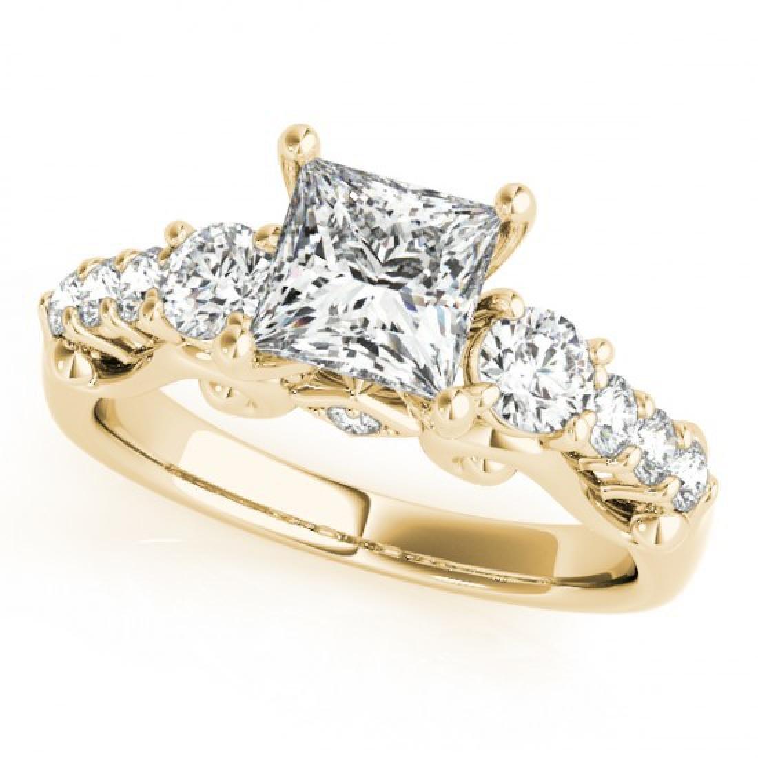 1.5 CTW Certified VS/SI Diamond 3 Stone Princess Cut