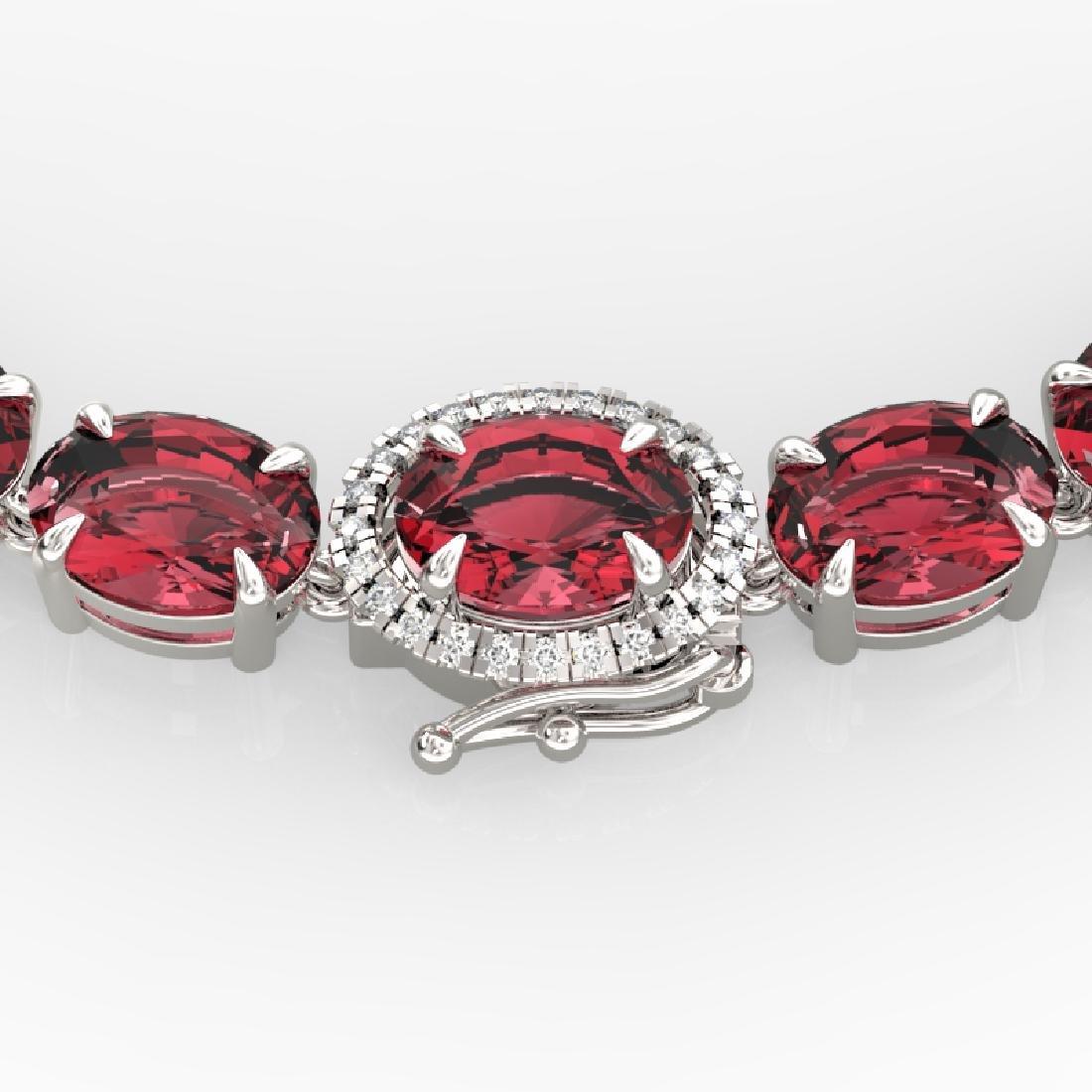 66 CTW Pink Tourmaline & VS/SI Diamond Micro Halo