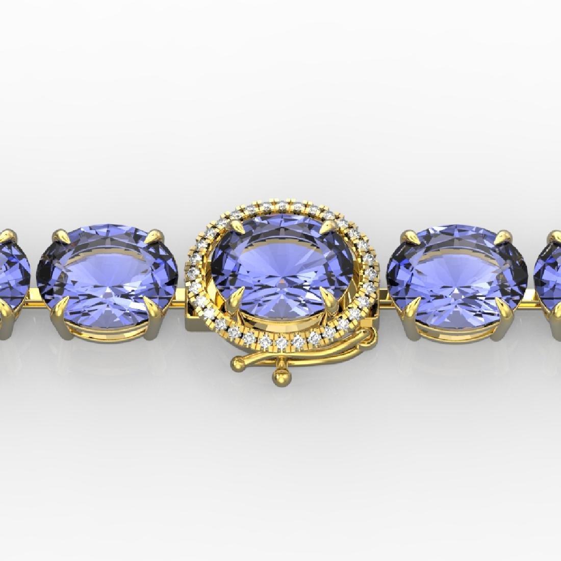 75 CTW Tanzanite & Micro VS/SI Diamond Halo Designer