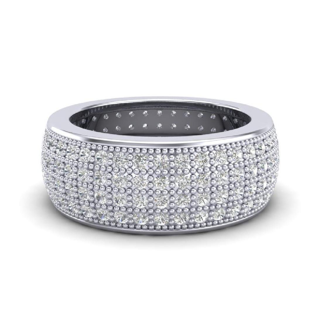 2.50 CTW Micro Pave VS/SI Diamond Eternity Band Ring