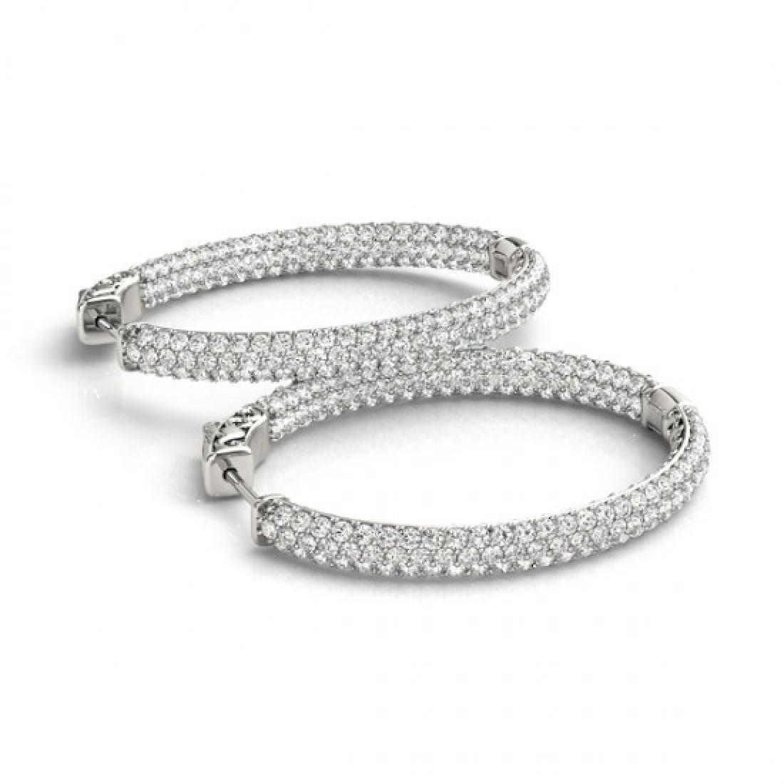 2.75 CTW Diamond VS/SI Certified 38 Mm Hoop Earrings