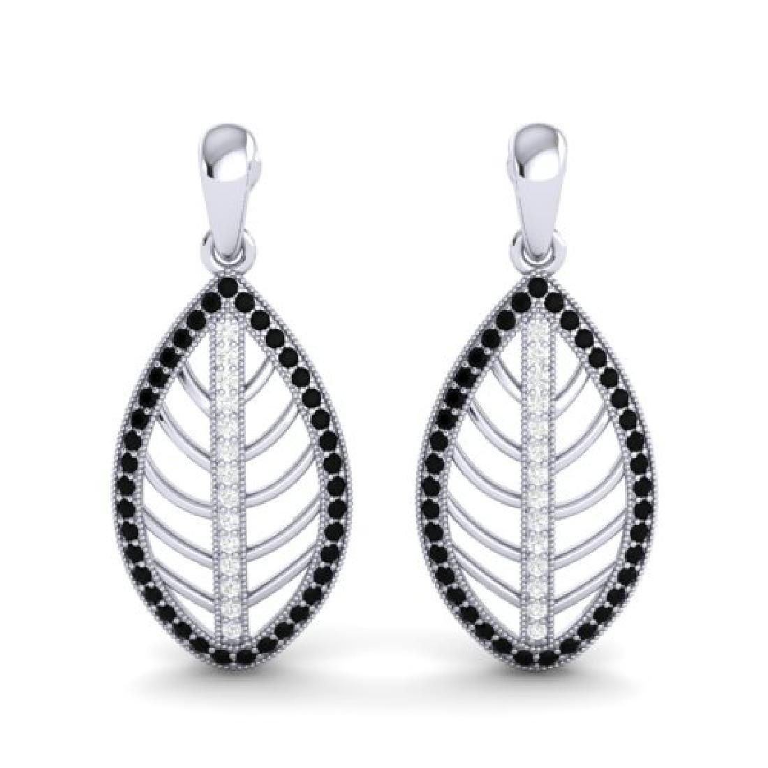 2 CTW Micro Pave Black & VS/SI Diamond Designer
