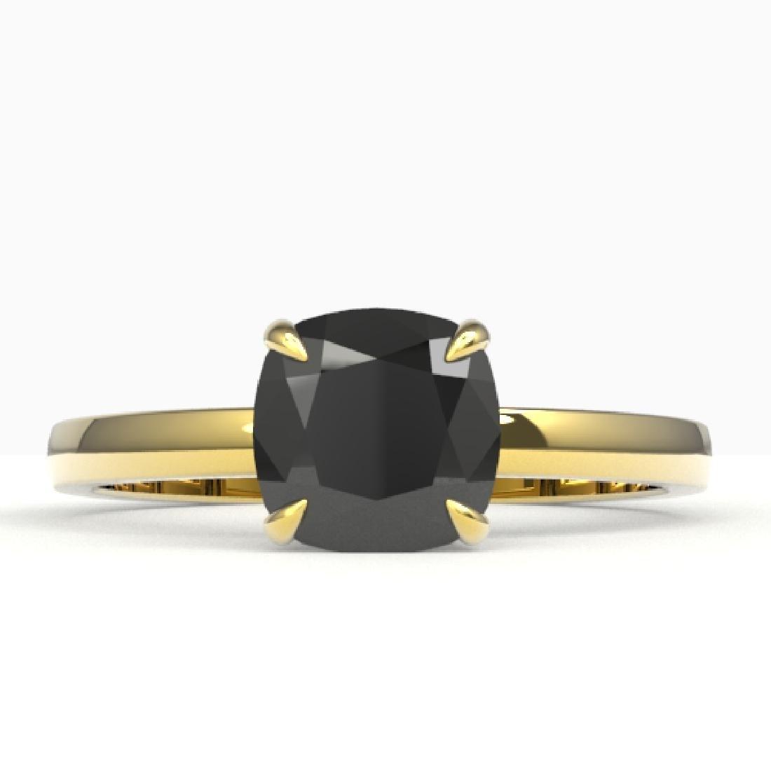 3 CTW Cushion Cut Black VS/SI Diamond Designer