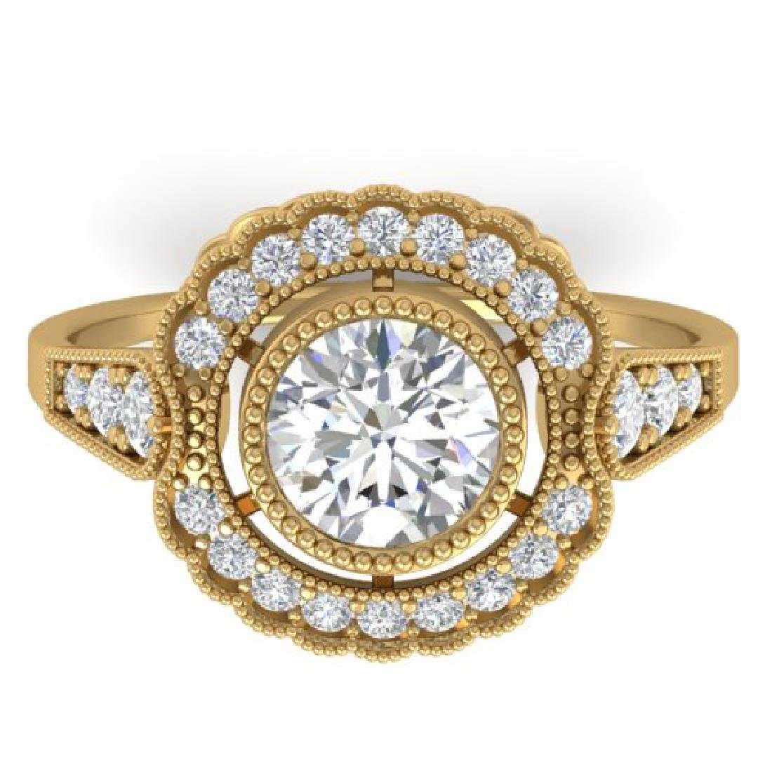 1.55 CTW Certified VS/SI Diamond Solitaire Art Deco
