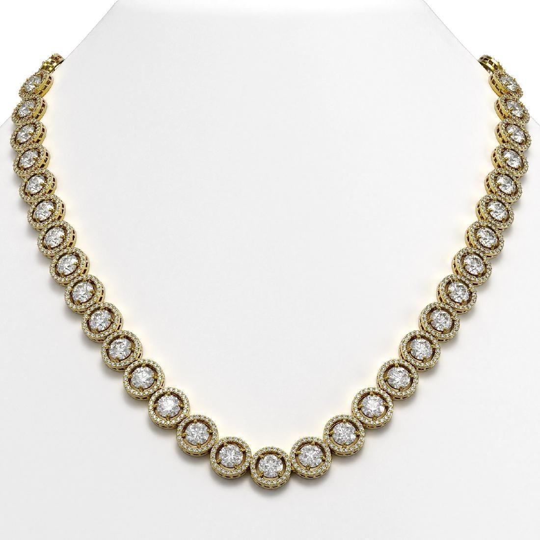30.78 CTW Diamond Designer Necklace 18K Yellow Gold