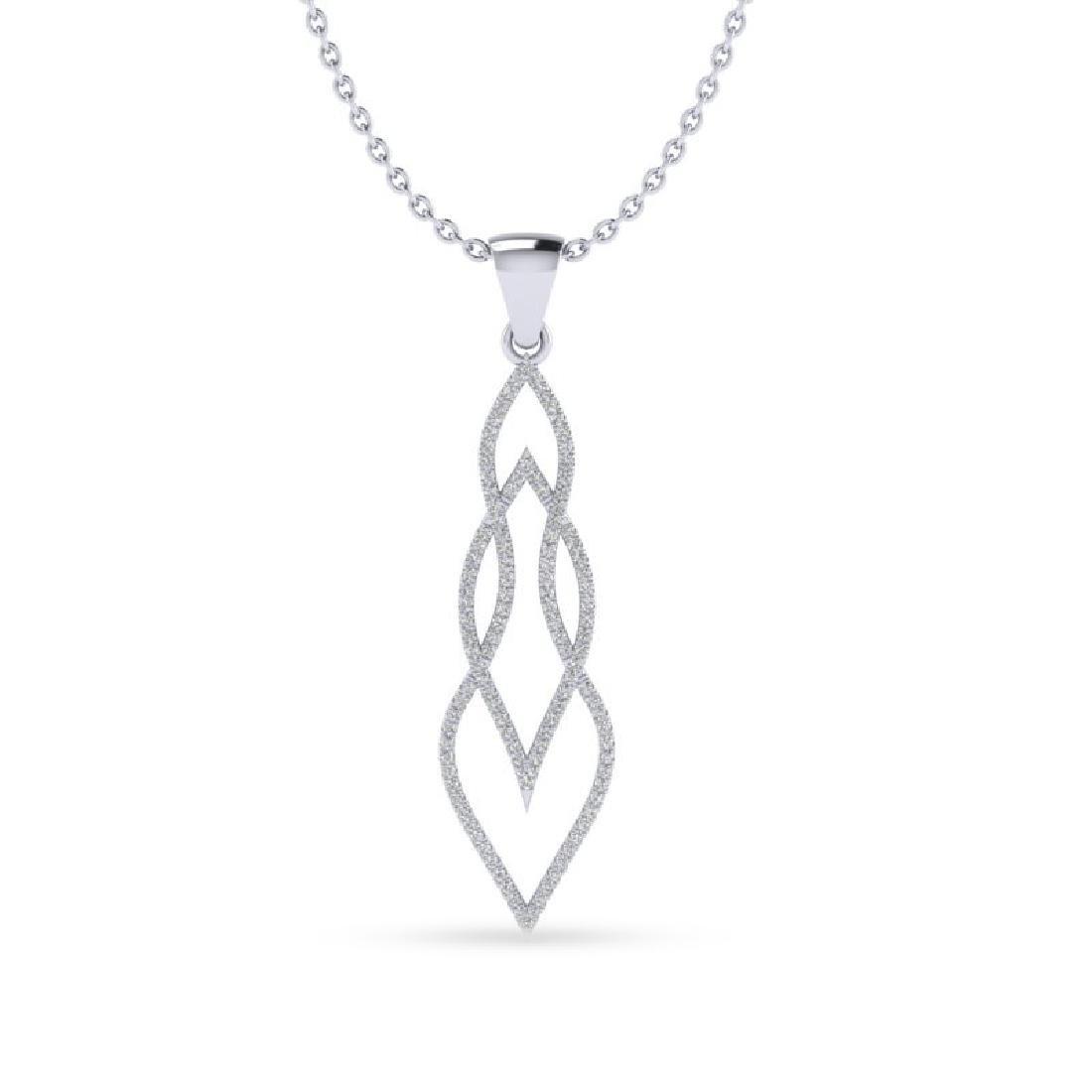 0.80 CTW Micro Pave VS/SI Diamond Necklace 14K White