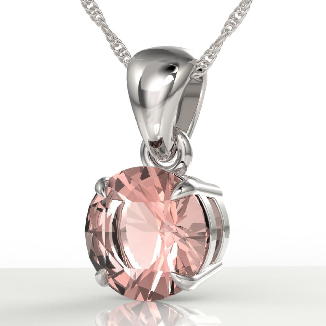2 CTW Morganite Designer Inspired Solitaire Necklace