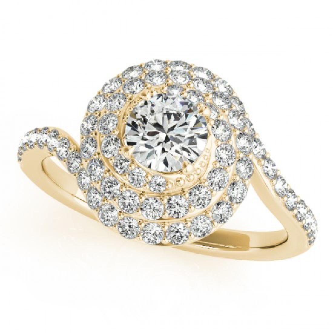 1.86 CTW Certified VS/SI Diamond Solitaire Halo Ring