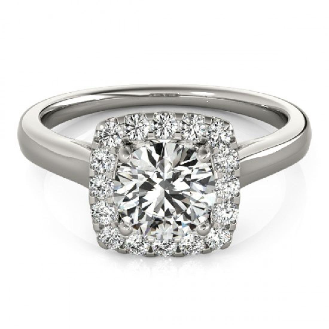 1.37 CTW Certified VS/SI Diamond Solitaire Halo Ring