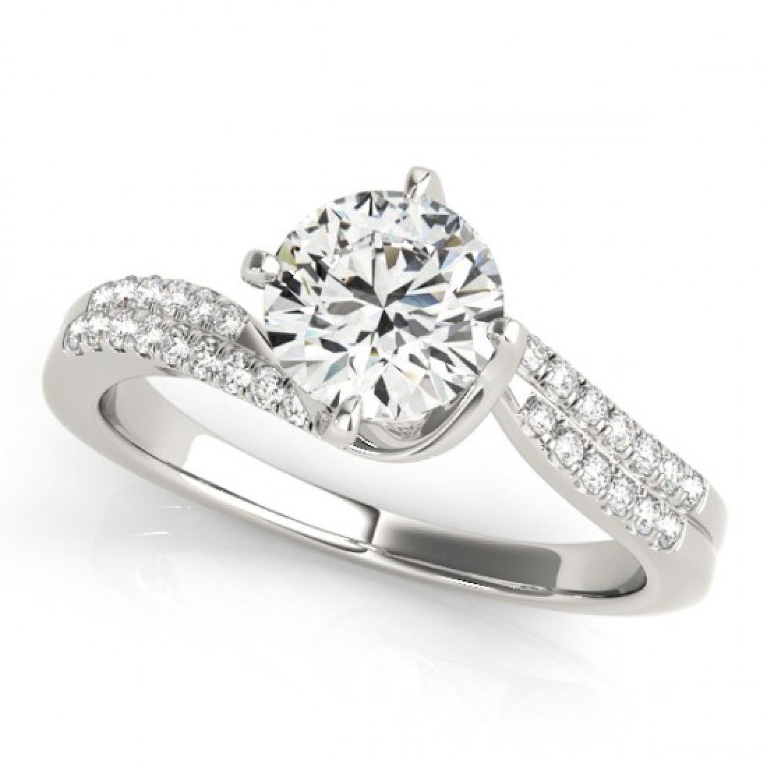 1.2 CTW Certified VS/SI Diamond Bypass Solitaire Ring