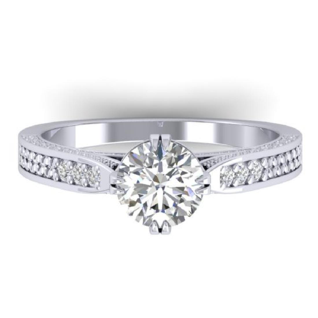 1.22 CTW Certified VS/SI Diamond Solitaire Art Deco