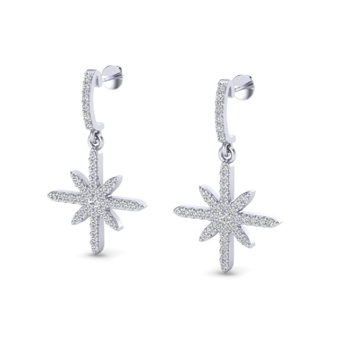 0.75 CTW Micro Pave VS/SI Diamond Earrings 18K White