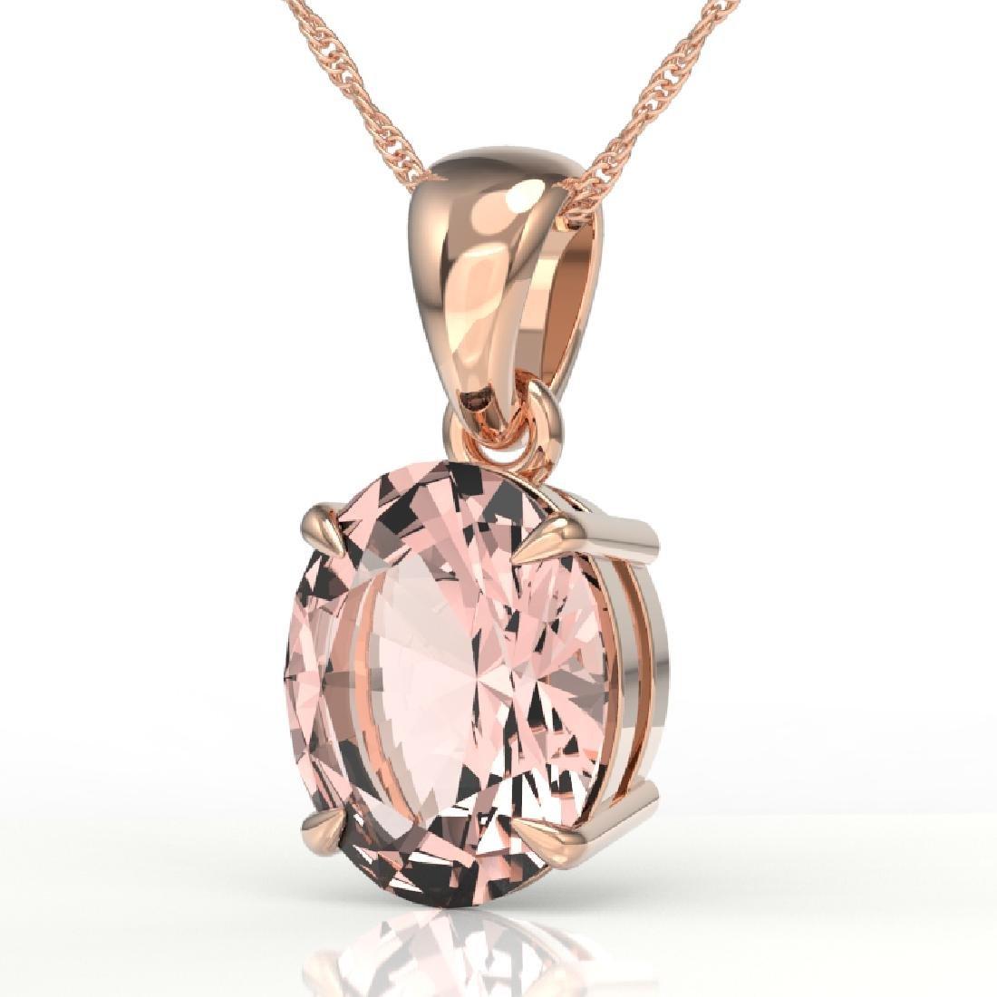 2.75 CTW Morganite Designer Inspired Solitaire Necklace