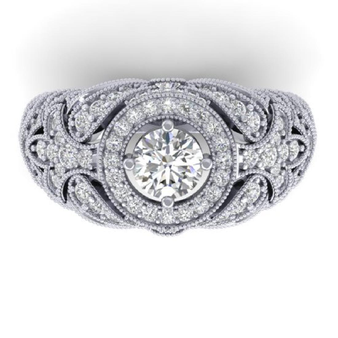2.35 CTW Certified VS/SI Diamond Art Deco Halo Ring 18K