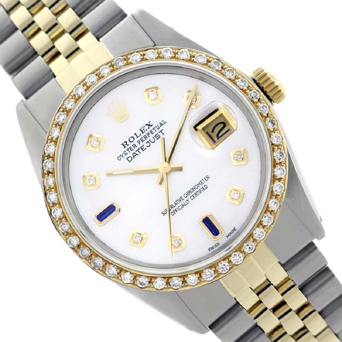 Rolex Ladies Two Tone 14K Gold/SS, Diam Dial &
