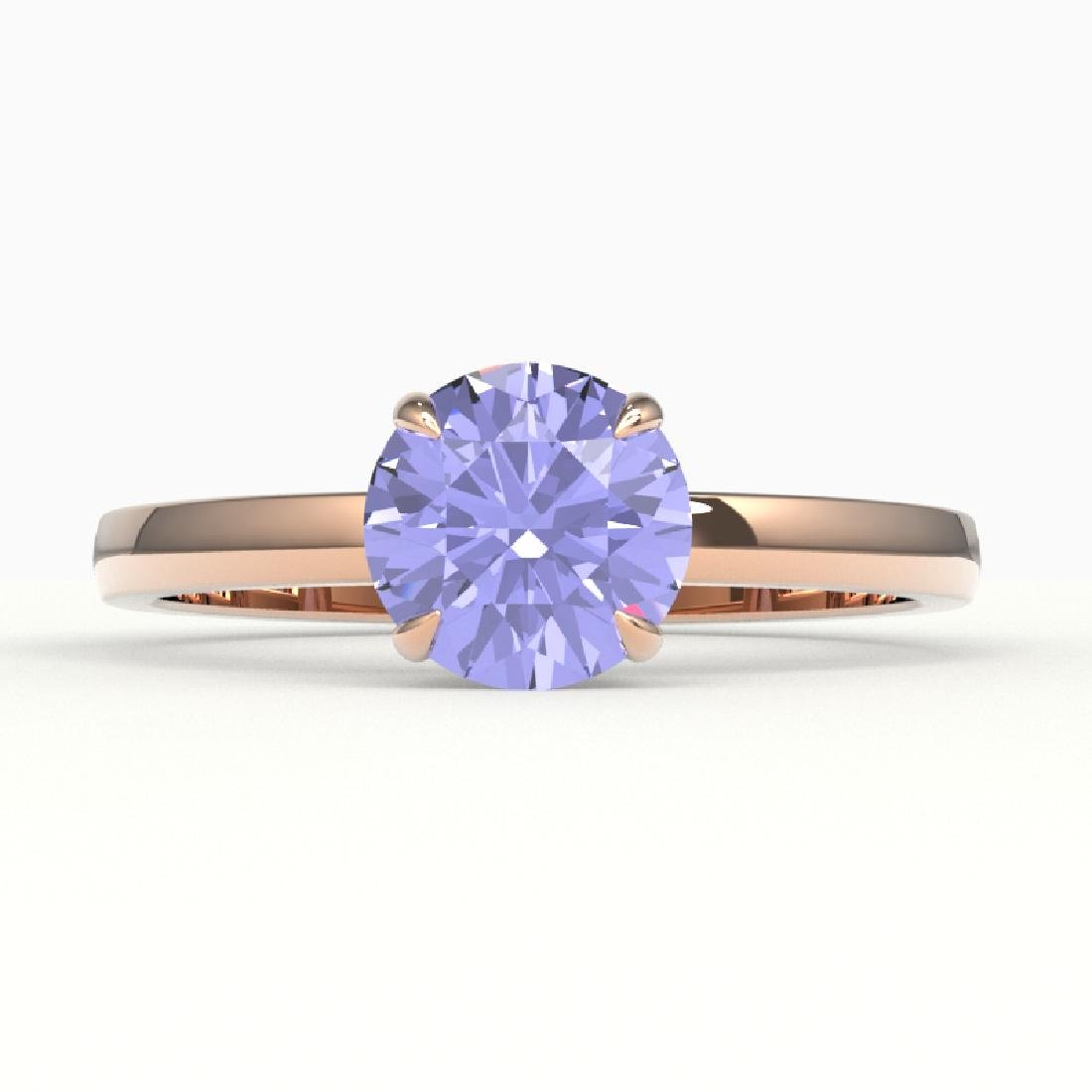 2 CTW Tanzanite Designer Inspired Solitaire Engagement