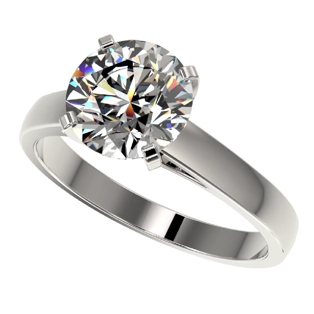 2.55 CTW Certified H-SI/I Quality Diamond Solitaire