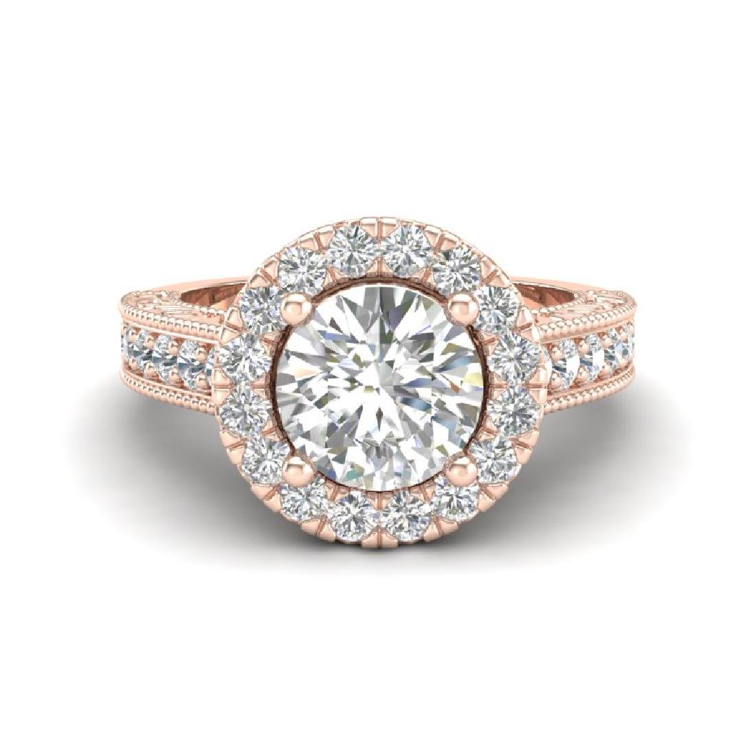 2.25 CTW Vintage Solitaire VS/SI Diamond Engagement