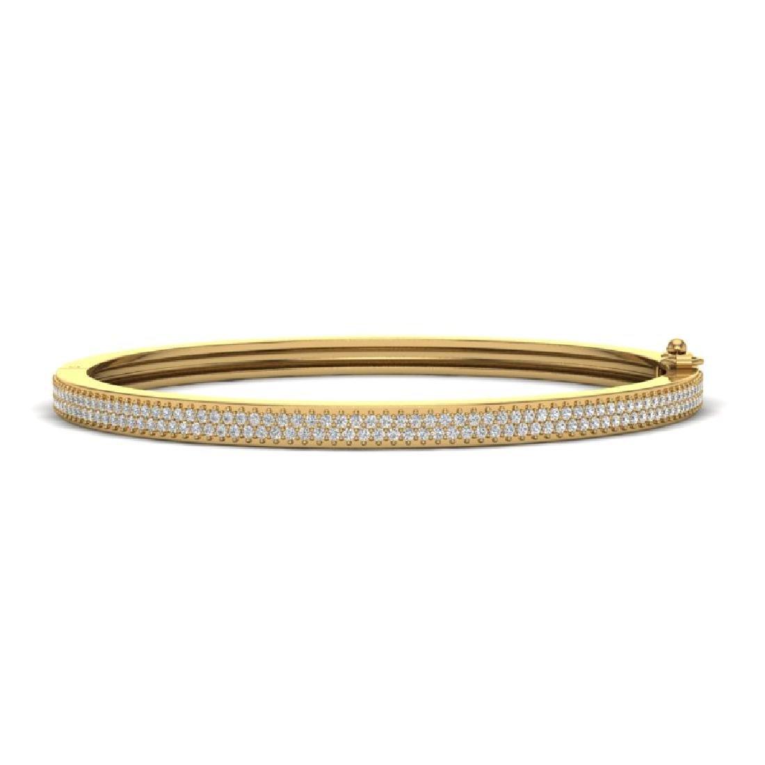 1.50 CTW Micro Pave VS/SI Diamond Bangel Bracelet 14K