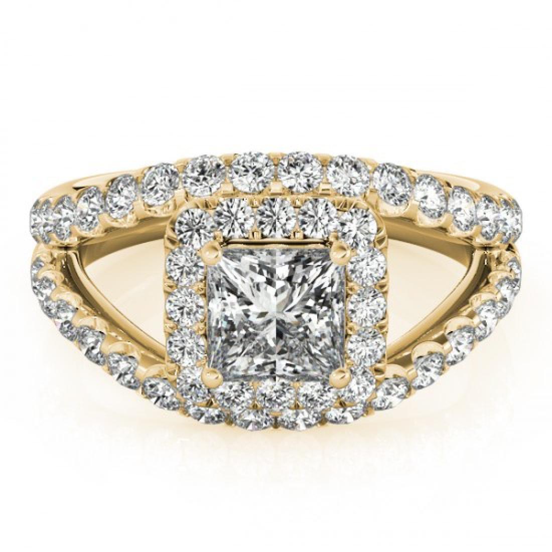 1.85 CTW Certified VS/SI Princess Diamond Solitaire