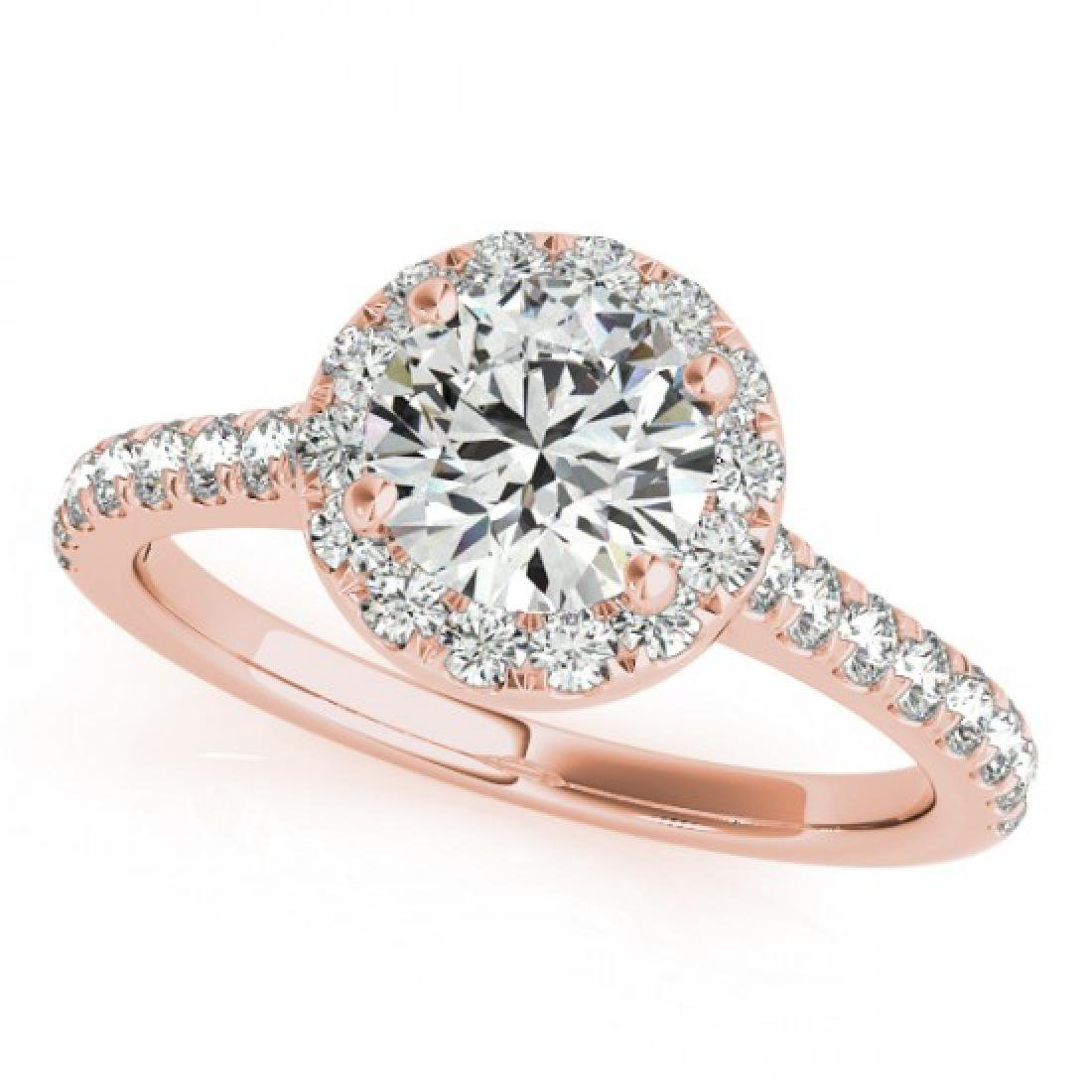 1.4 CTW Certified VS/SI Diamond Solitaire Halo Ring 14K