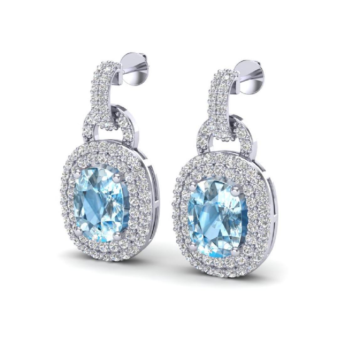 5 CTW Sky Blue Topaz And Micro VS/SI Diamond Pave