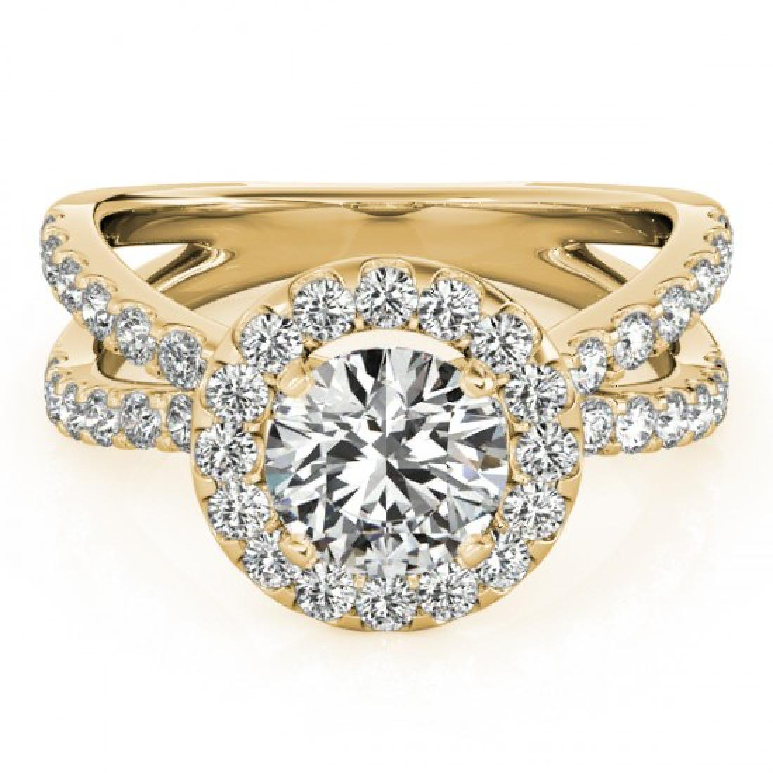 2.01 CTW Certified VS/SI Diamond Solitaire Halo Ring