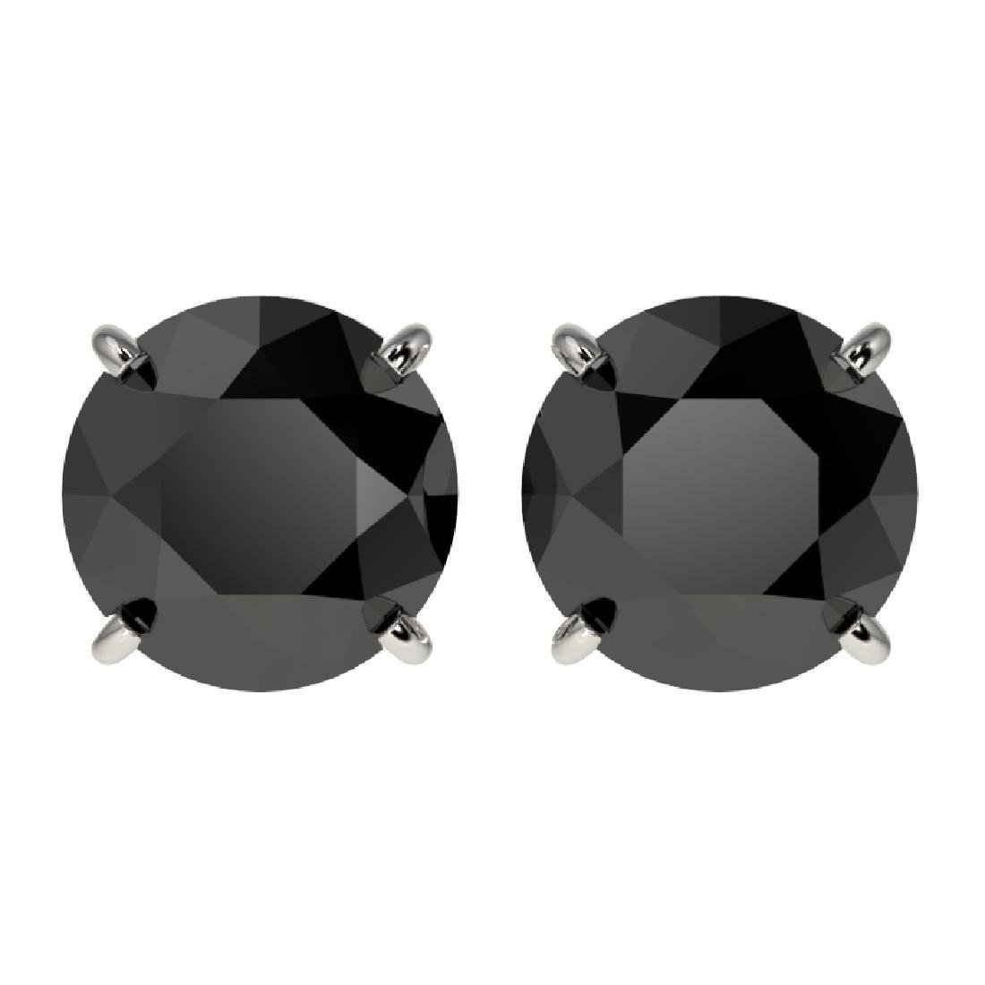 2.50 CTW Fancy Black VS Diamond Solitaire Stud Earrings