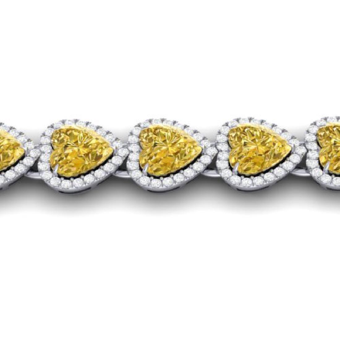 23 CTW Citrine & Micro Pave Bracelet Heart Halo 14K