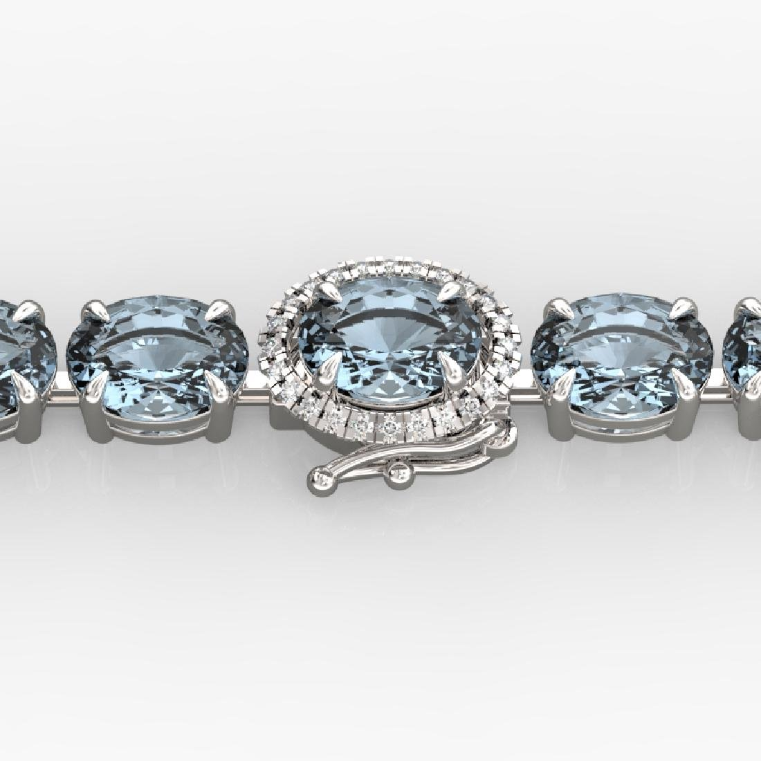 26 CTW Aquamarine & VS/SI Diamond Eternity Micro Halo