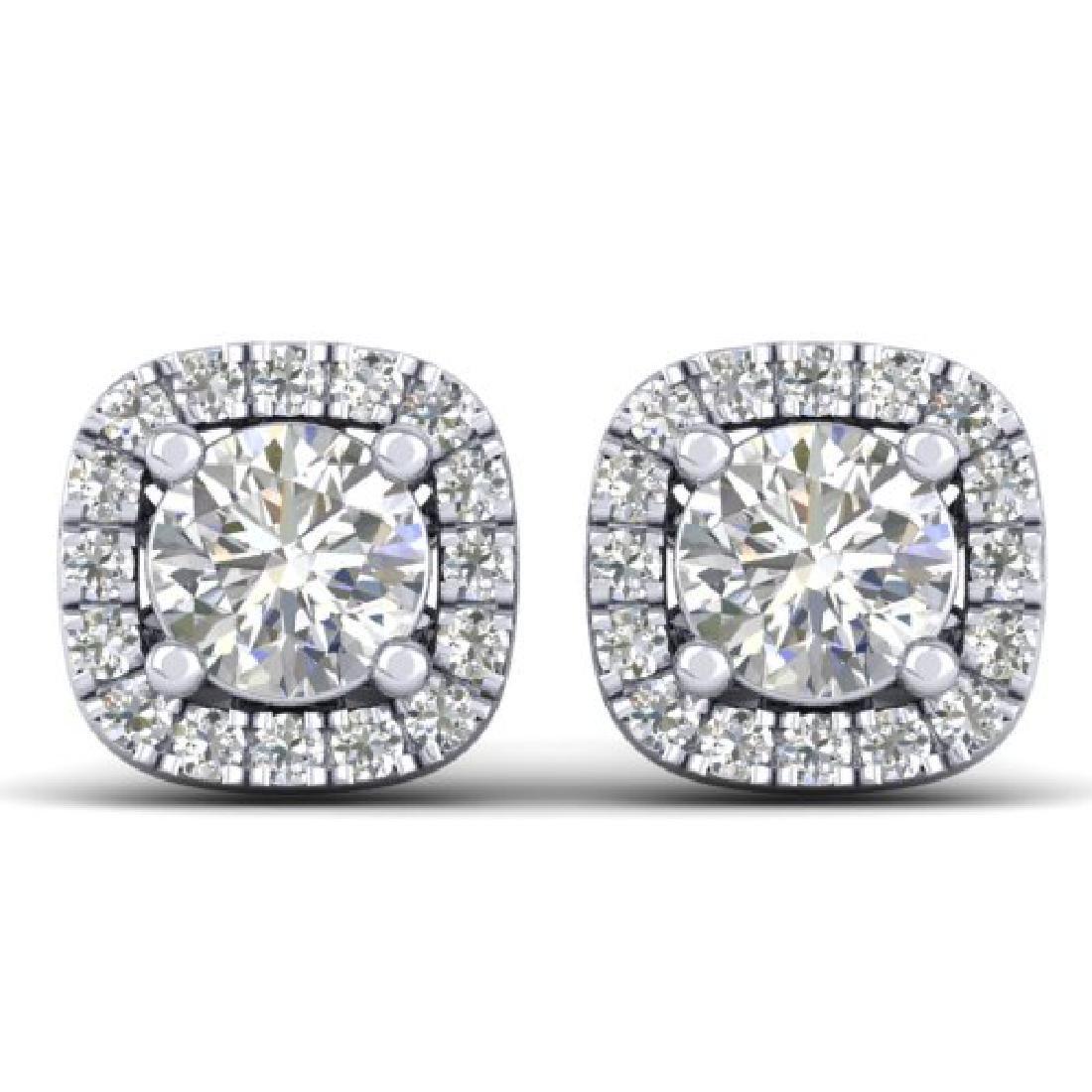1.08 CTW Certified VS/SI Diamond Solitaire Stud Halo