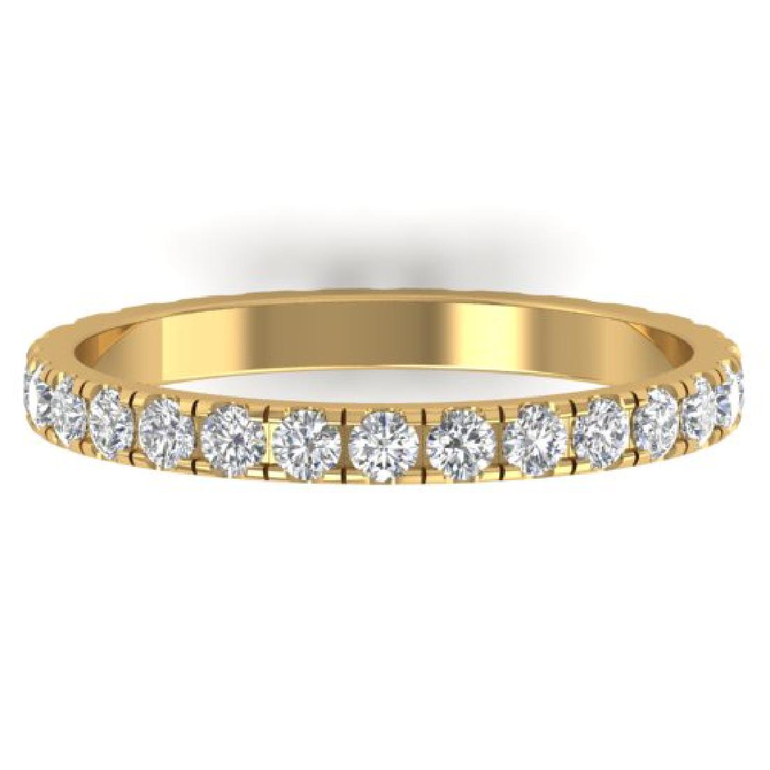 1 CTW Certified VS/SI Diamond Art Deco Eternity Band
