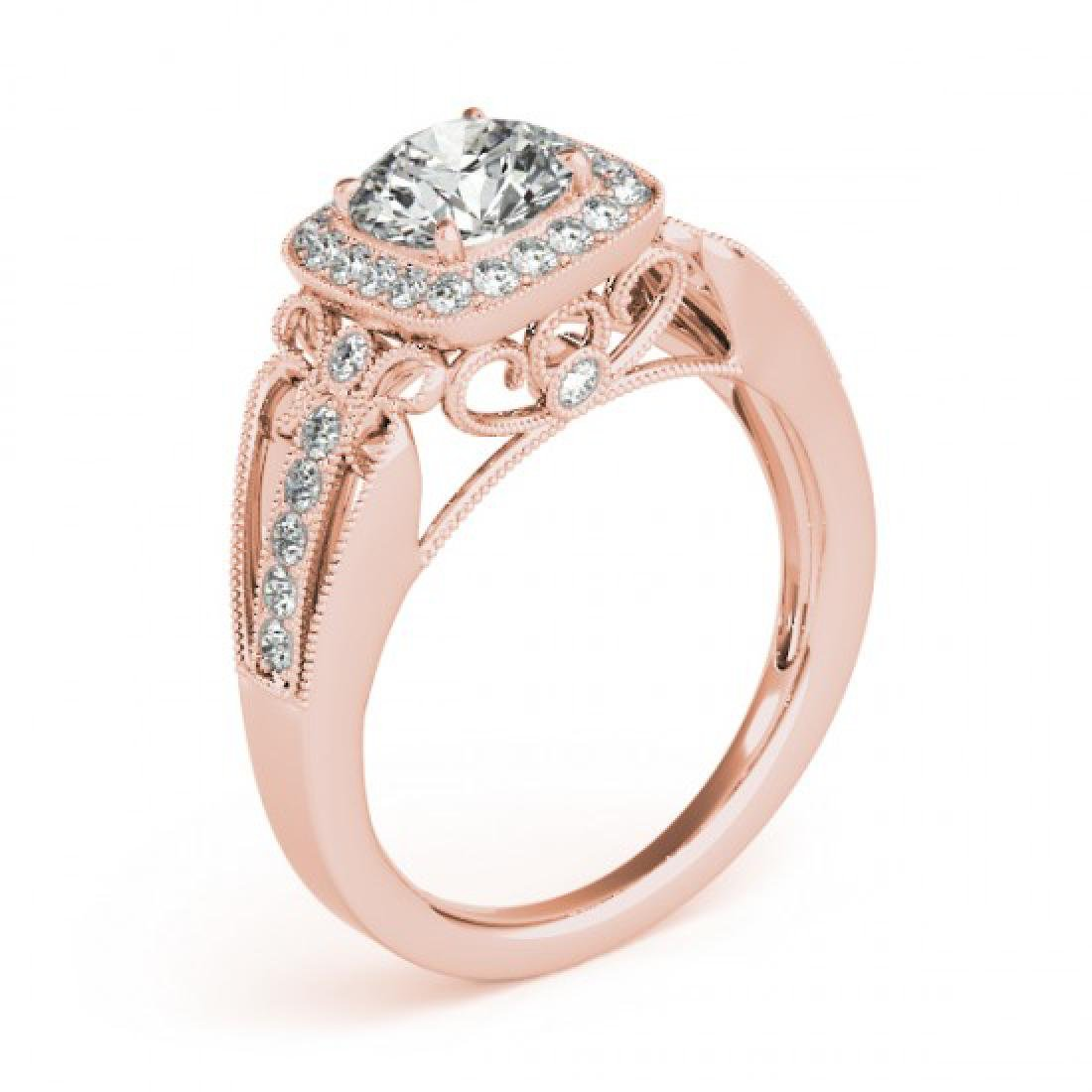 1.3 CTW Certified VS/SI Diamond Solitaire Halo Ring 14K - 3