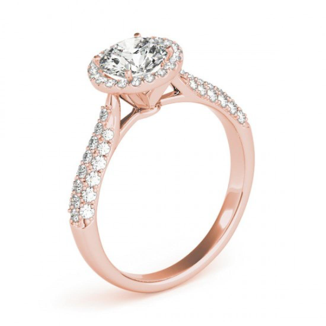 1.4 CTW Certified VS/SI Diamond Solitaire Halo Ring 14K - 3