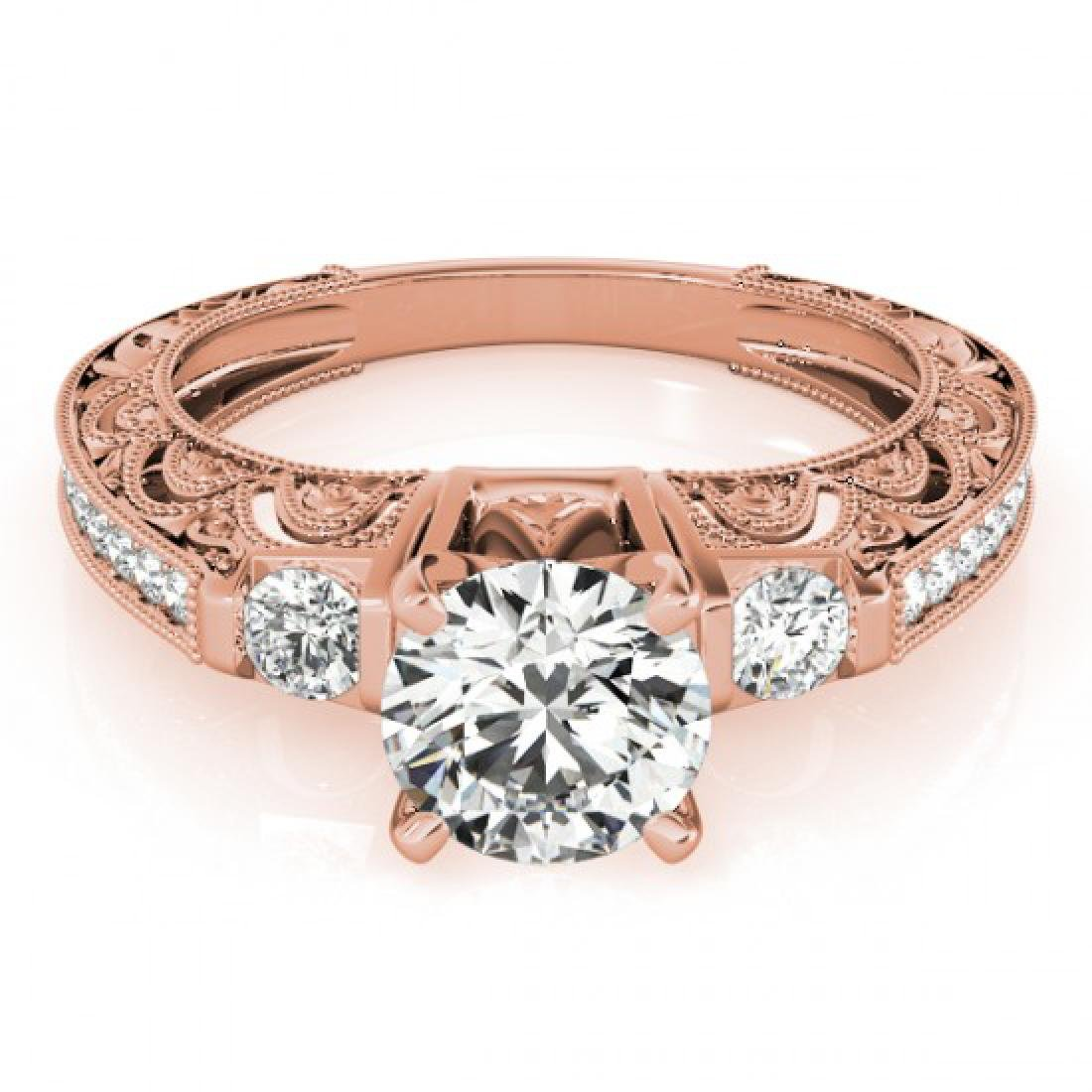 1.38 CTW Certified VS/SI Diamond Solitaire Antique Ring
