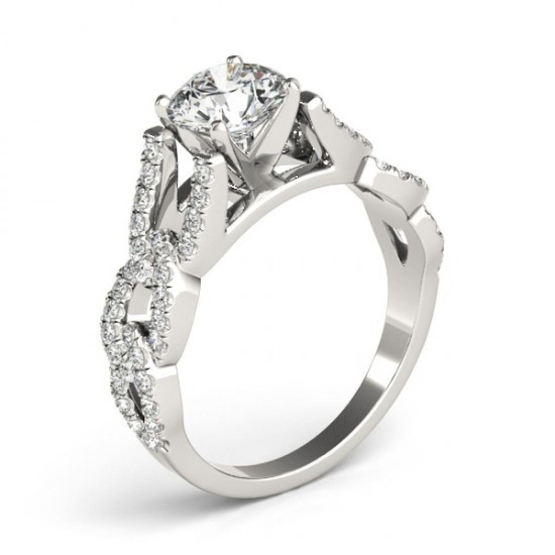1.5 CTW Certified VS/SI Diamond Solitaire Ring 14K - 3