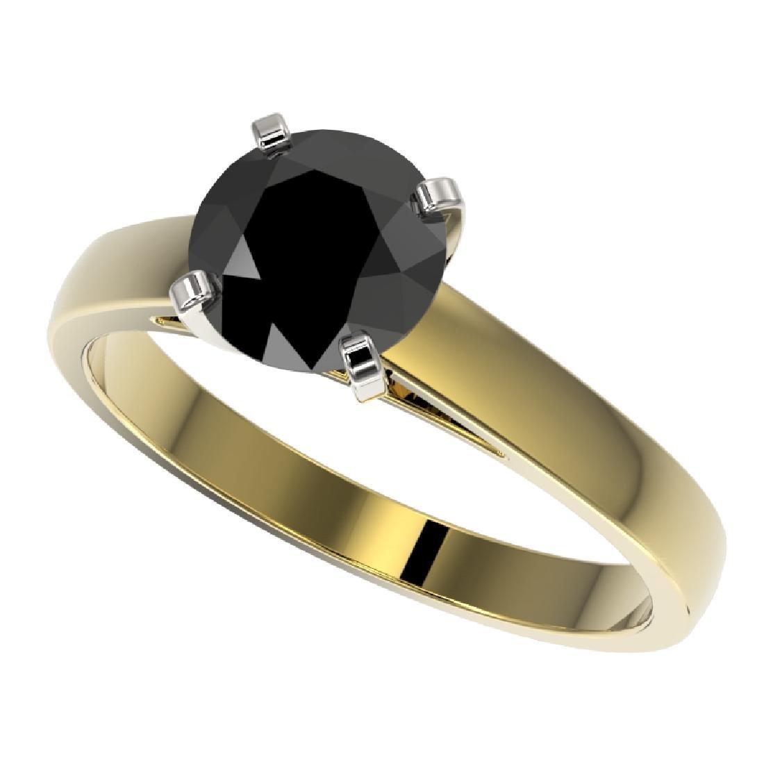 1.50 CTW Fancy Black VS Diamond Solitaire Engagement