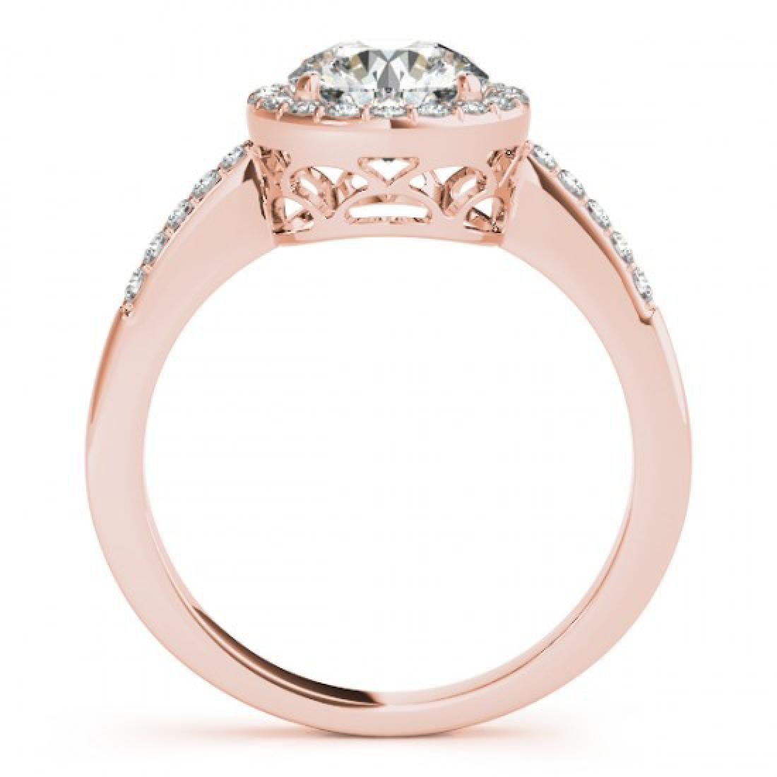 0.5 CTW Certified VS/SI Diamond Solitaire Halo Ring 14K - 2