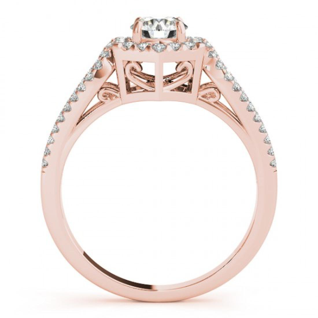 0.9 CTW Certified VS/SI Diamond Solitaire Halo Ring 14K - 2