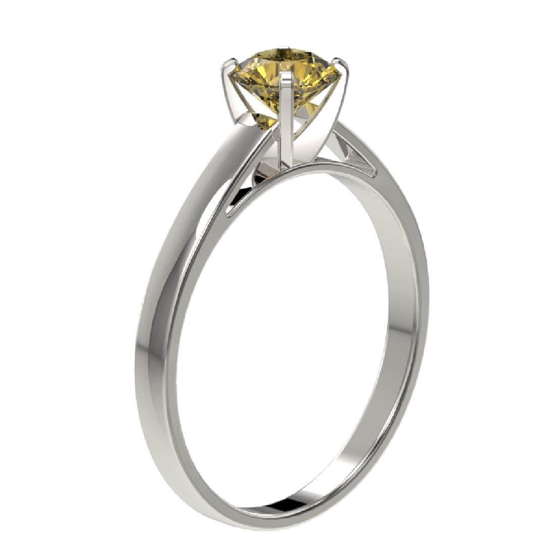 0.75 CTW Certified Intense Yellow SI Diamond Solitaire - 3