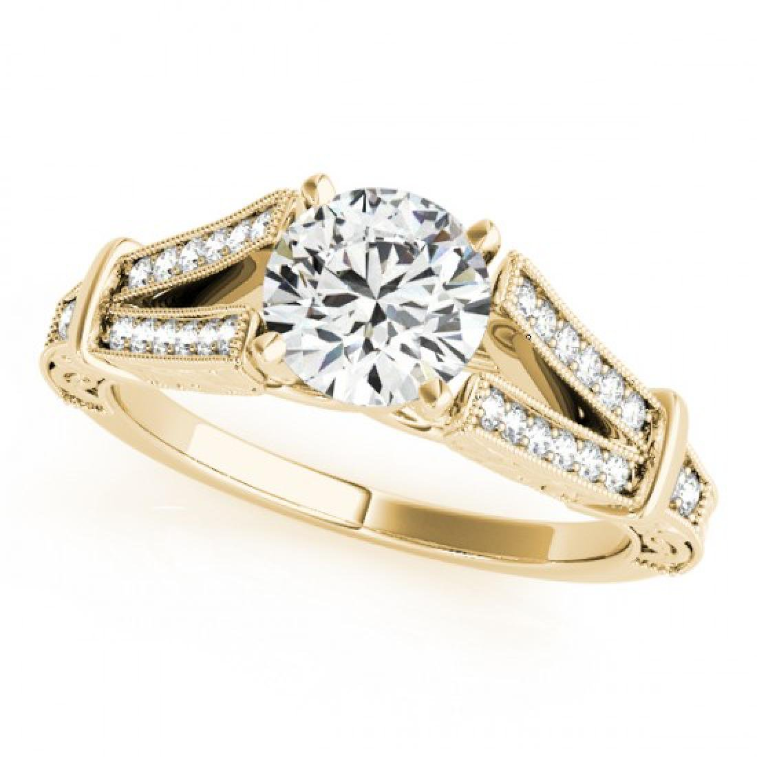 1 CTW Certified VS/SI Diamond Solitaire Antique Ring