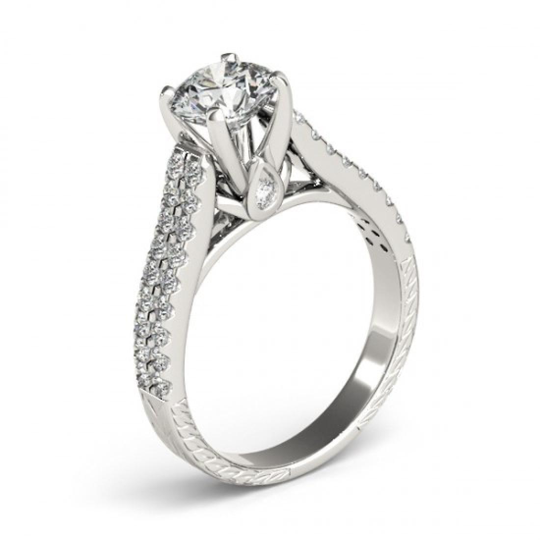 1.61 CTW Certified VS/SI Diamond Pave Ring 14K White - 3
