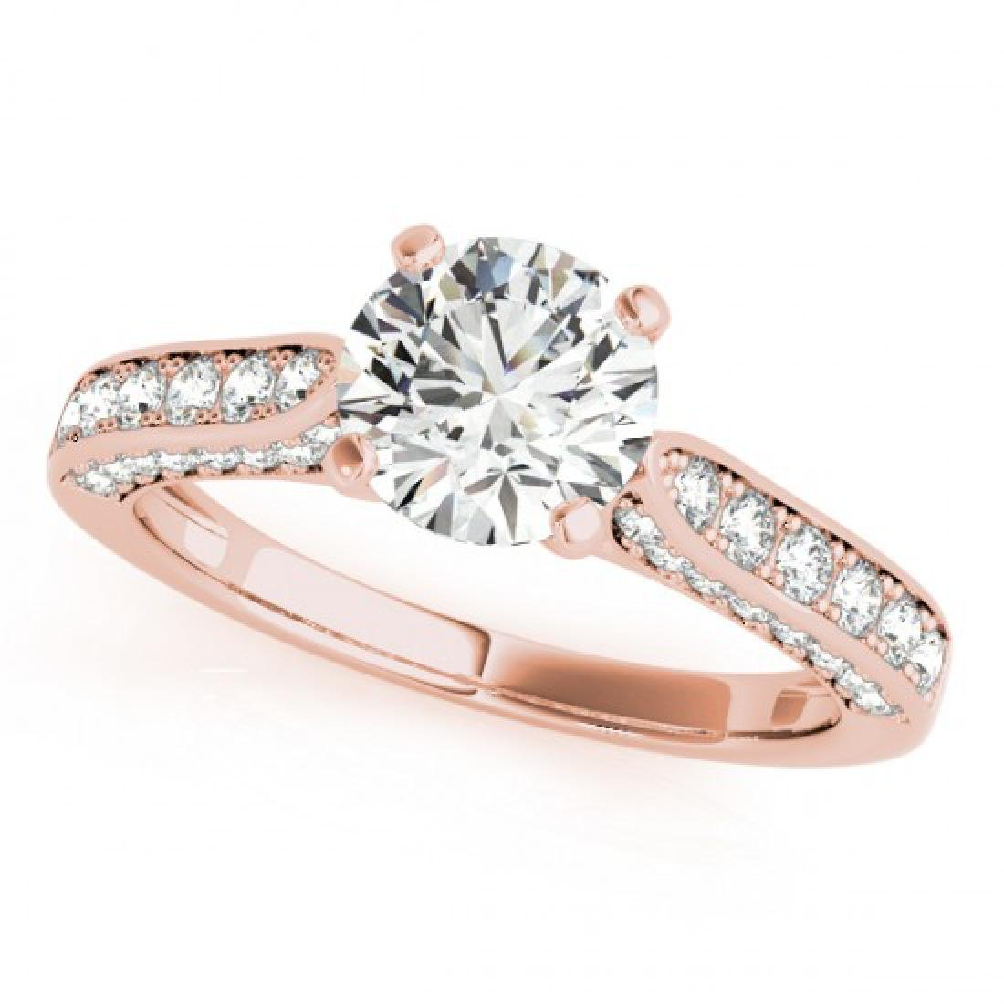 1.1 CTW Certified VS/SI Diamond Solitaire Ring 14K Rose